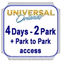 Picture of Universal - 4 Day - 2 Park with Park to Park access to both Universal Studios Florida™ and Universal's Islands of Adventure™ on same day.