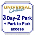 Picture of Universal - 3 Day - 2 Park - with Park to Pack access. Both Universal Studios Florida™ and Universal's Islands of Adventure™ on same day.